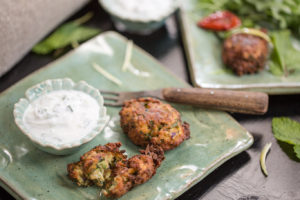 Kolokithokeftedes - Courgette Fritters