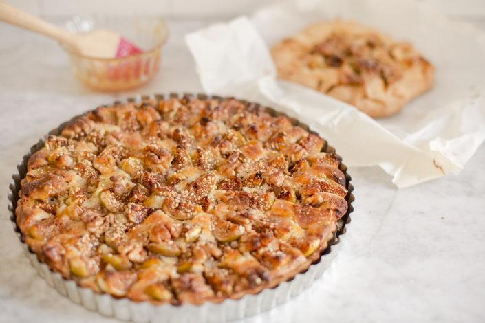 Fig and Walnut Tart