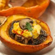 Roast Acorn Squash with Mushrooms and Ricotta