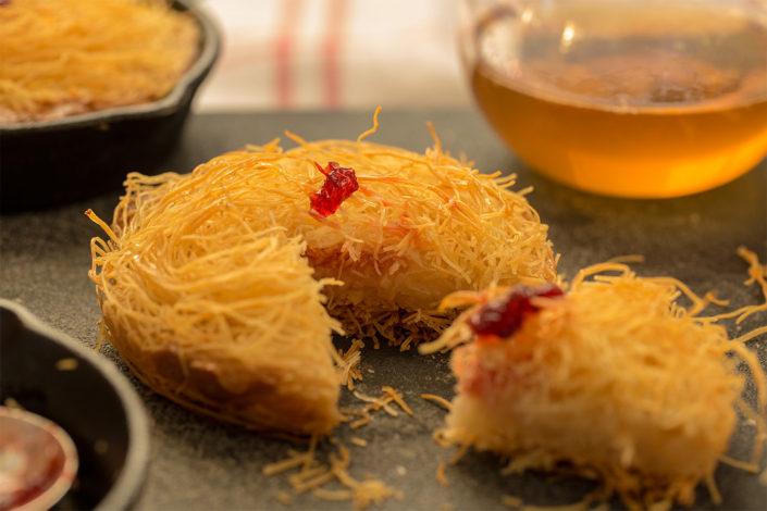 Osmallieh -Kataifi and Qashta Cream Pudding