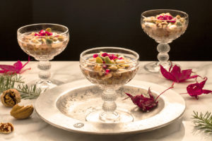 Qamhieh - Wheat Berries with Aniseed, Nuts and pomegranates