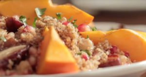 Bulgur wheat, date and persimmon salad